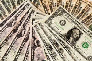 Fan of cash, American dollars, money